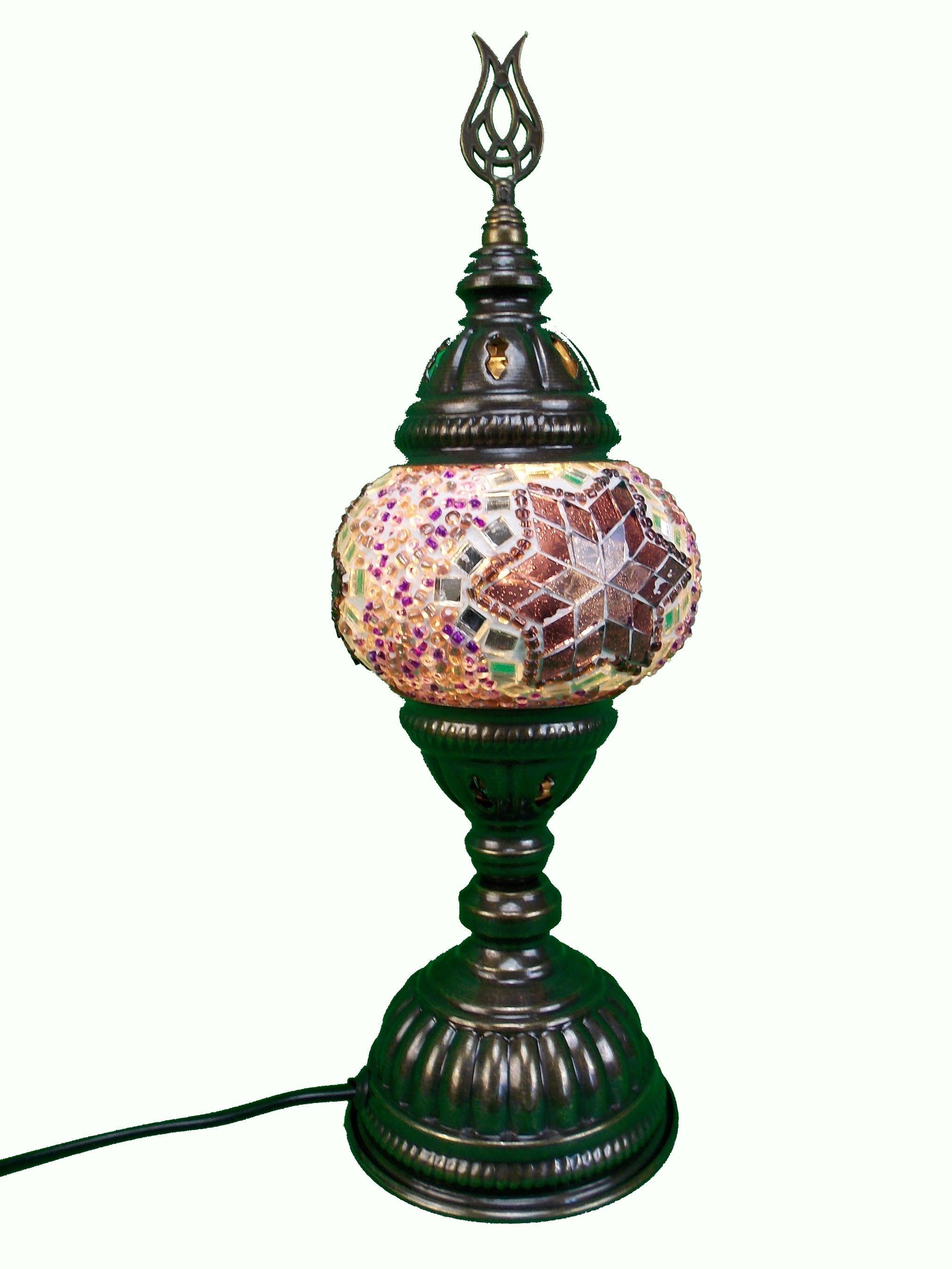 Veioza din sticla mozaic din Turcia  h30cm
