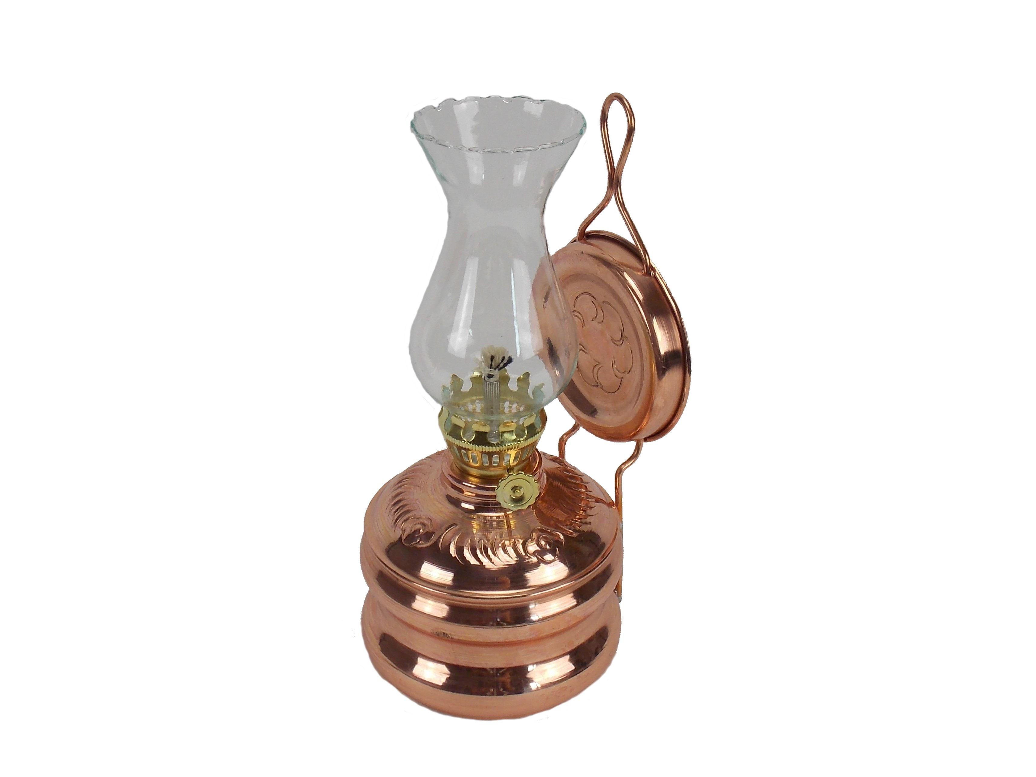 Lampa gaz din cupru si sticla, 30 cm
