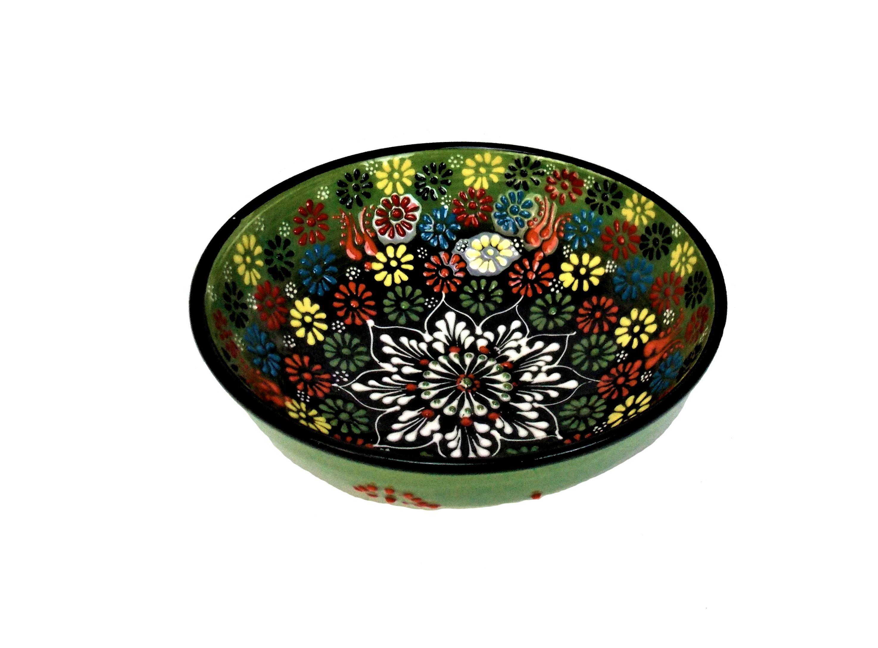 Bol ceramica turceasca handmade - 12 cm diverse culori