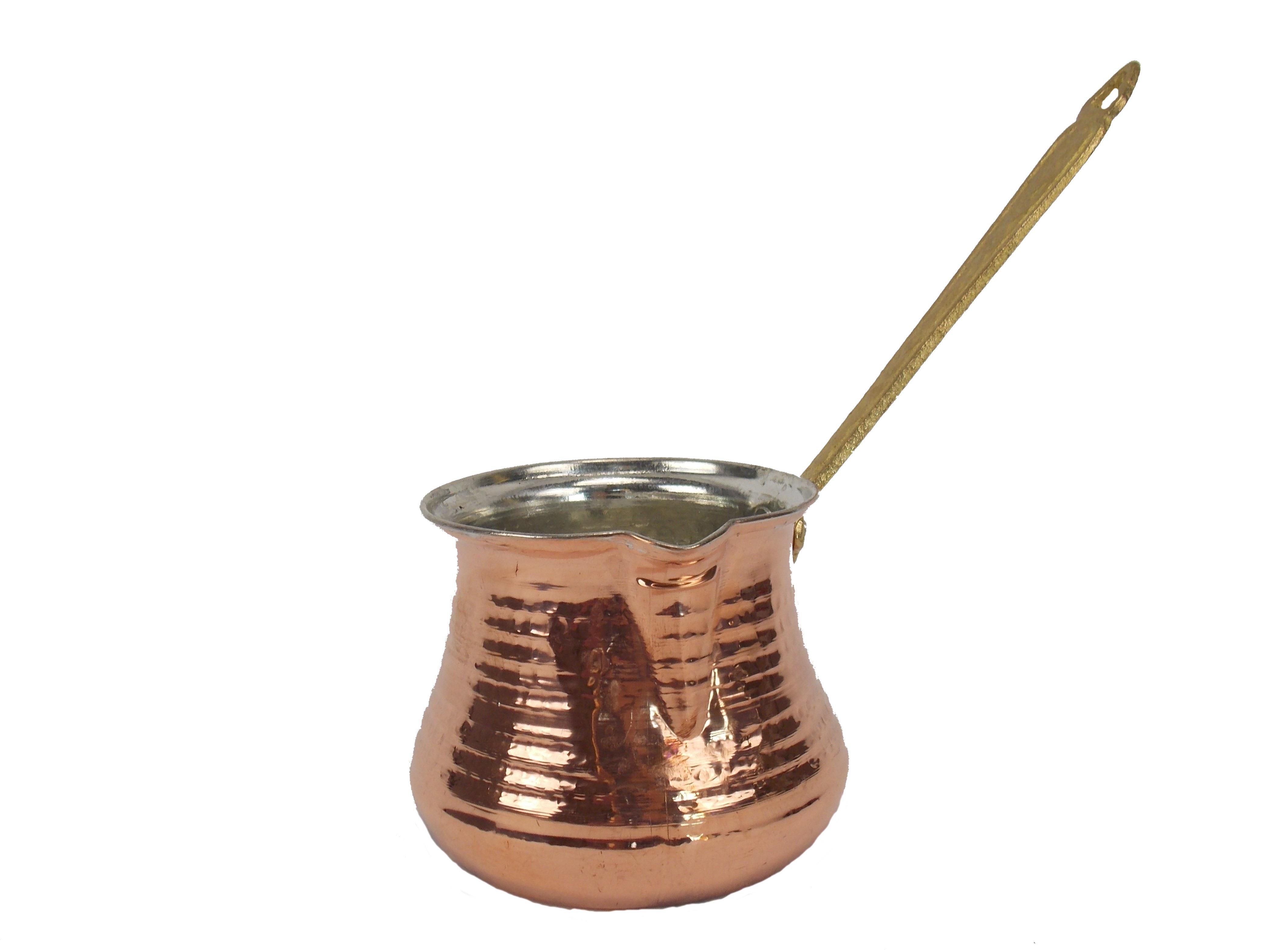 Ibric din Cupru Turcesc lucrat manual - 700 ml