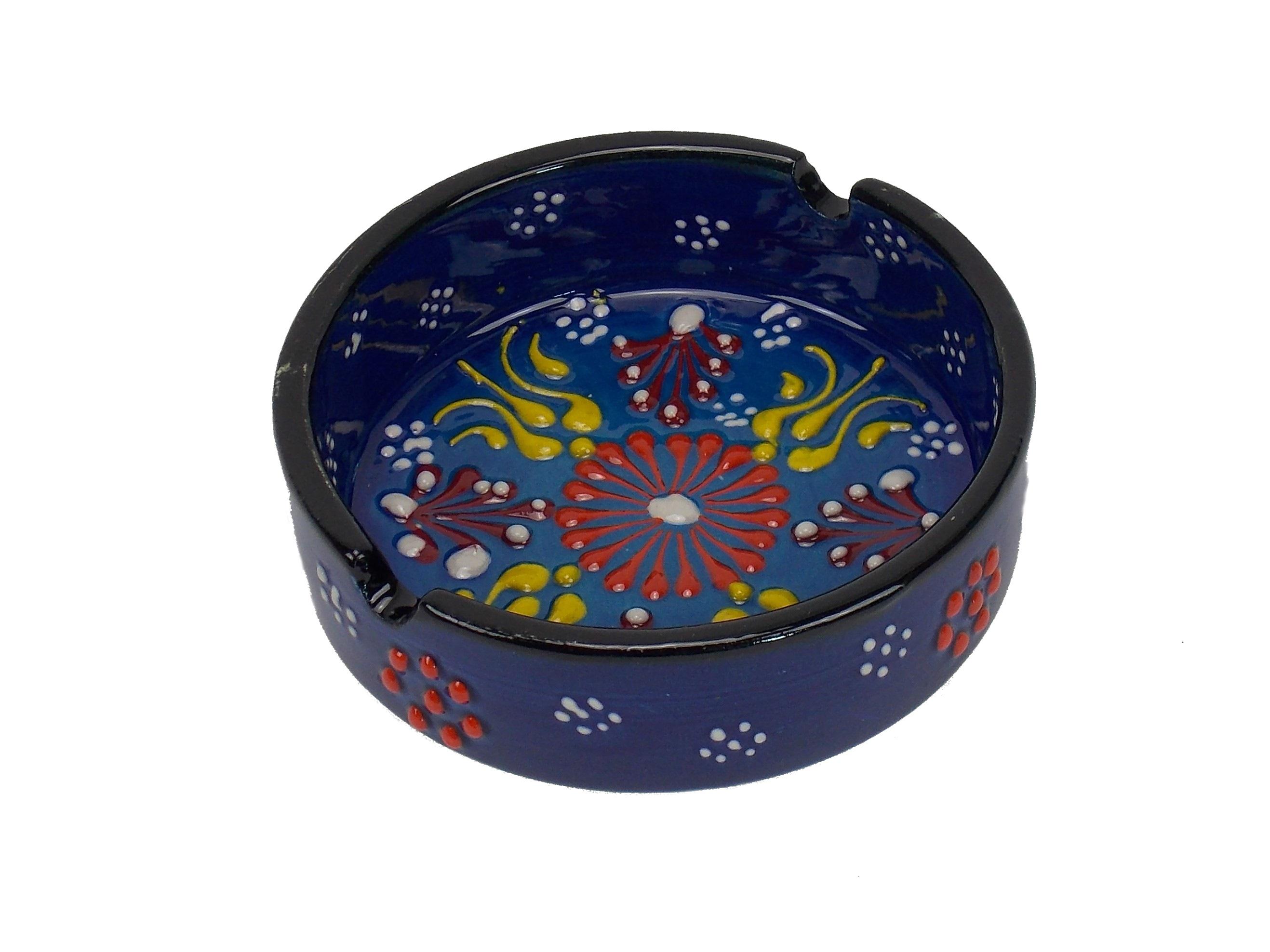 Scrumiera din ceramica - 10cm diverse culori