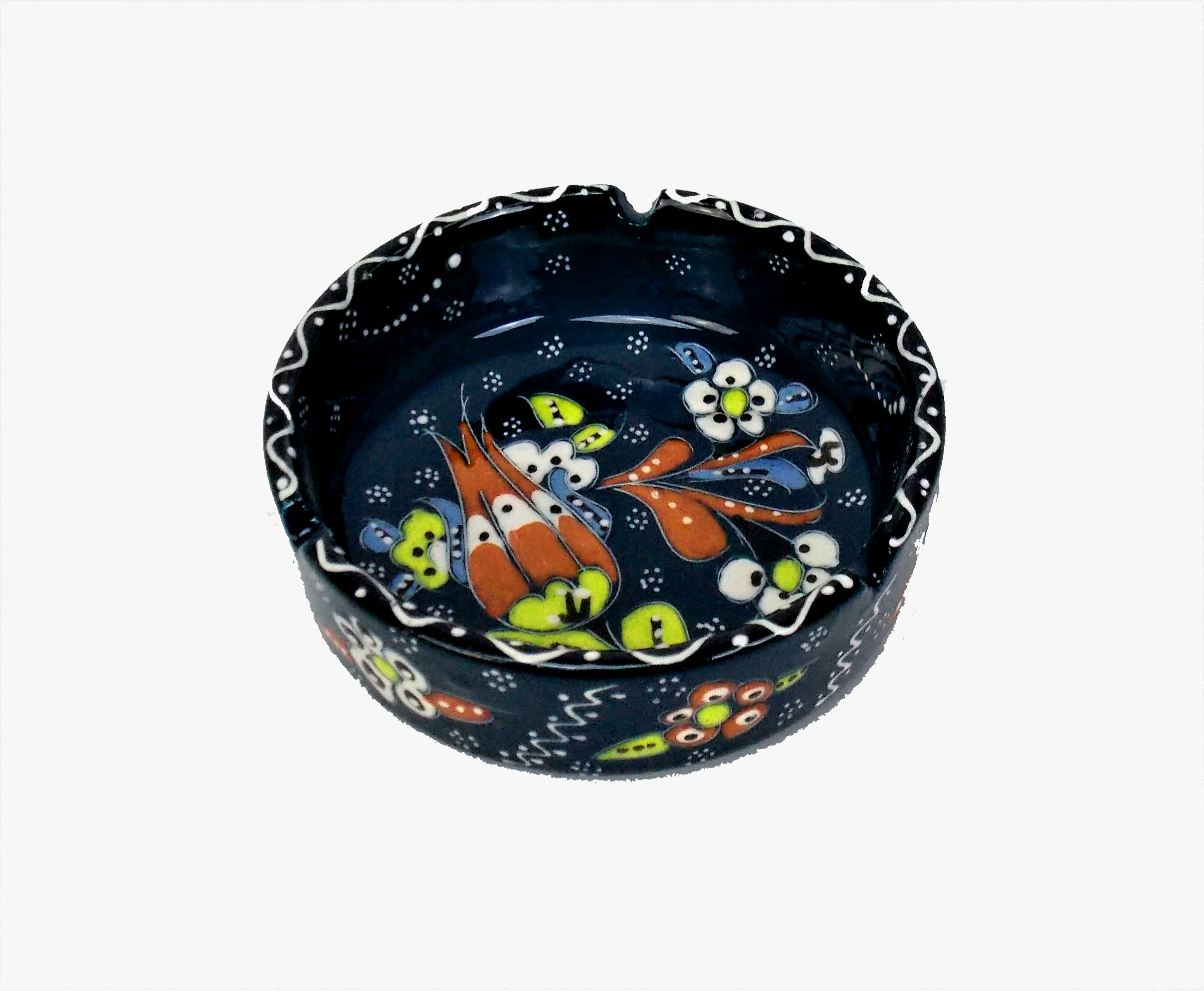Scrumiera din ceramica turceasca - 10cm diverse culori