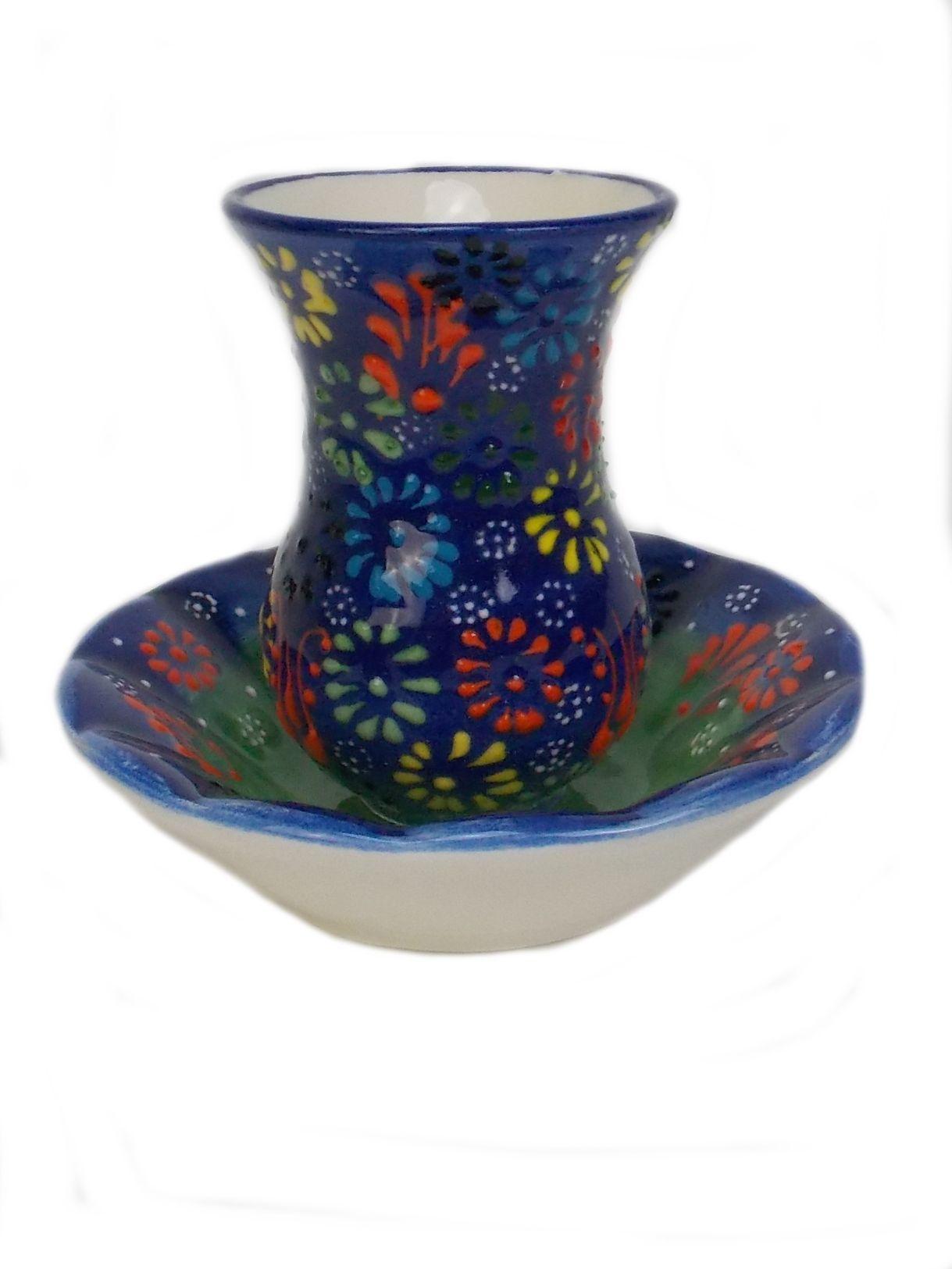 Ceasca turceasca pentru  ceai cu farfurioara din ceramica