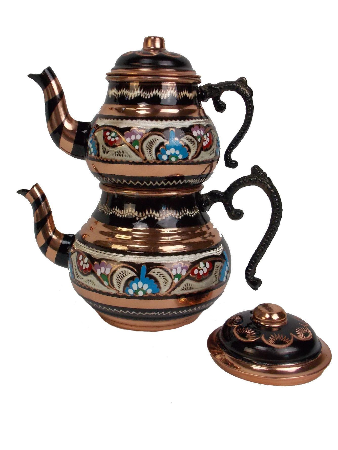 Ceainic  turcesc, din cupru  500ml + 900ml
