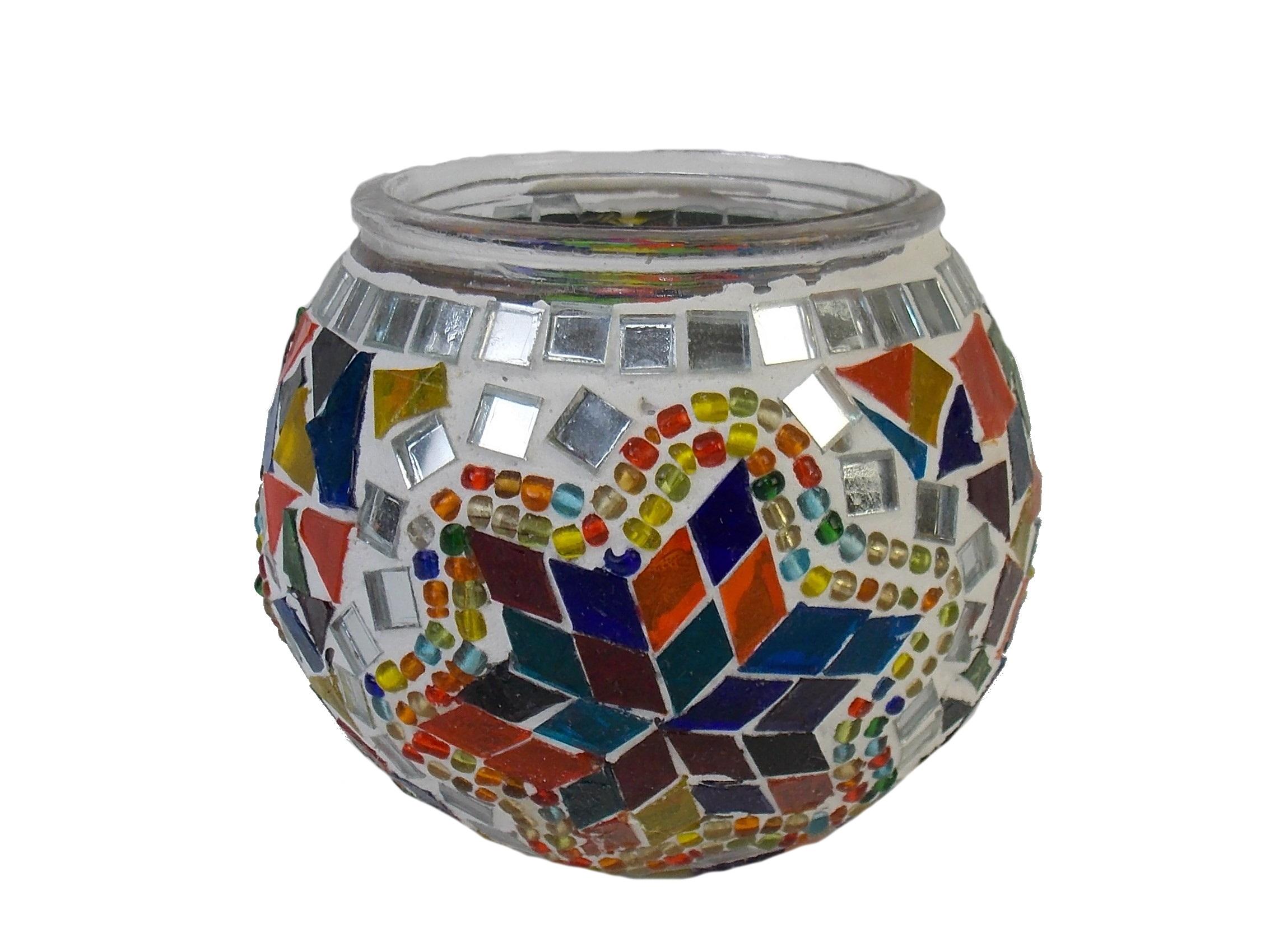 Candela mozaic - 9 cm