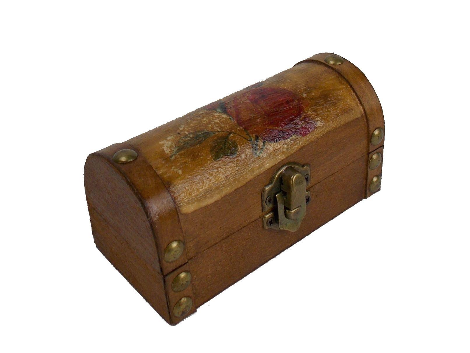 Cutie bijuterii cufar din lemn