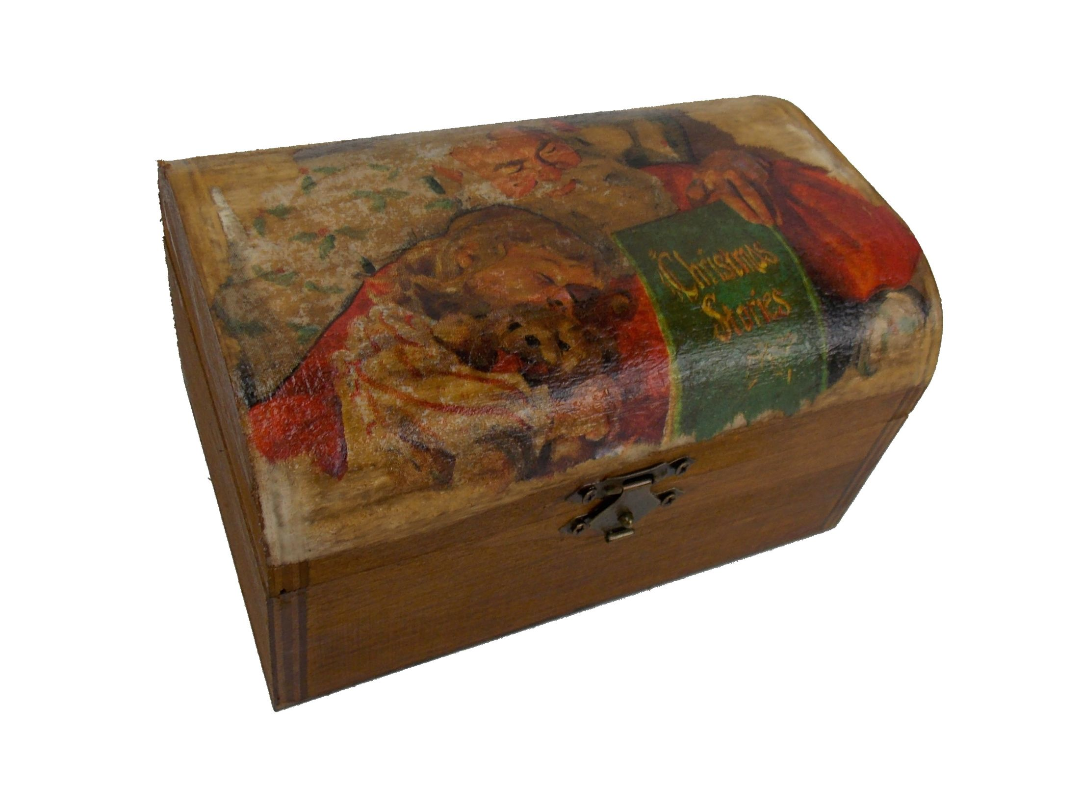 Cutie  bijuterii din lemn pentru  Craciun