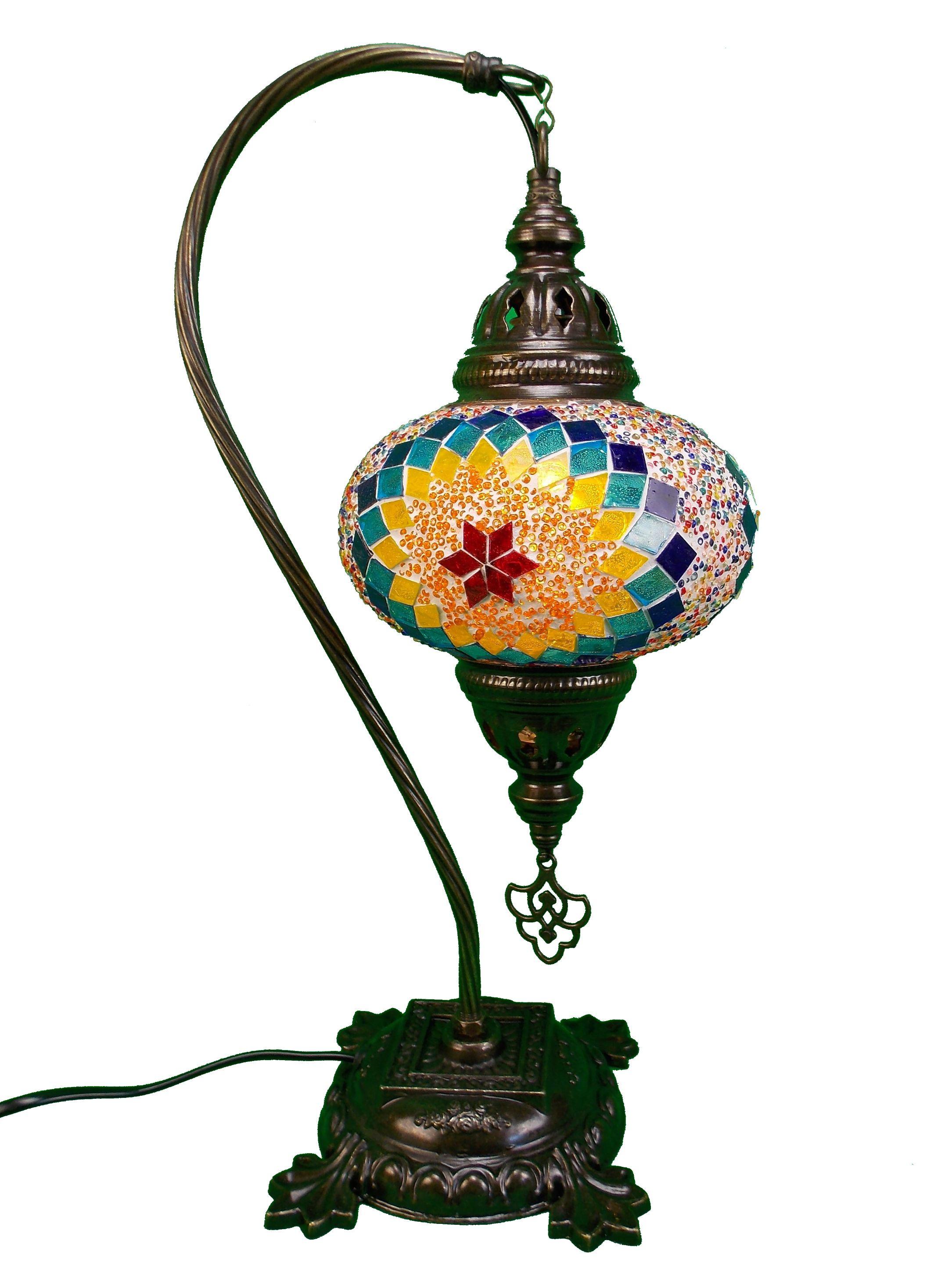 Veioza  turceasca  mozaic handmade, cu glob din sticla si suport din metal