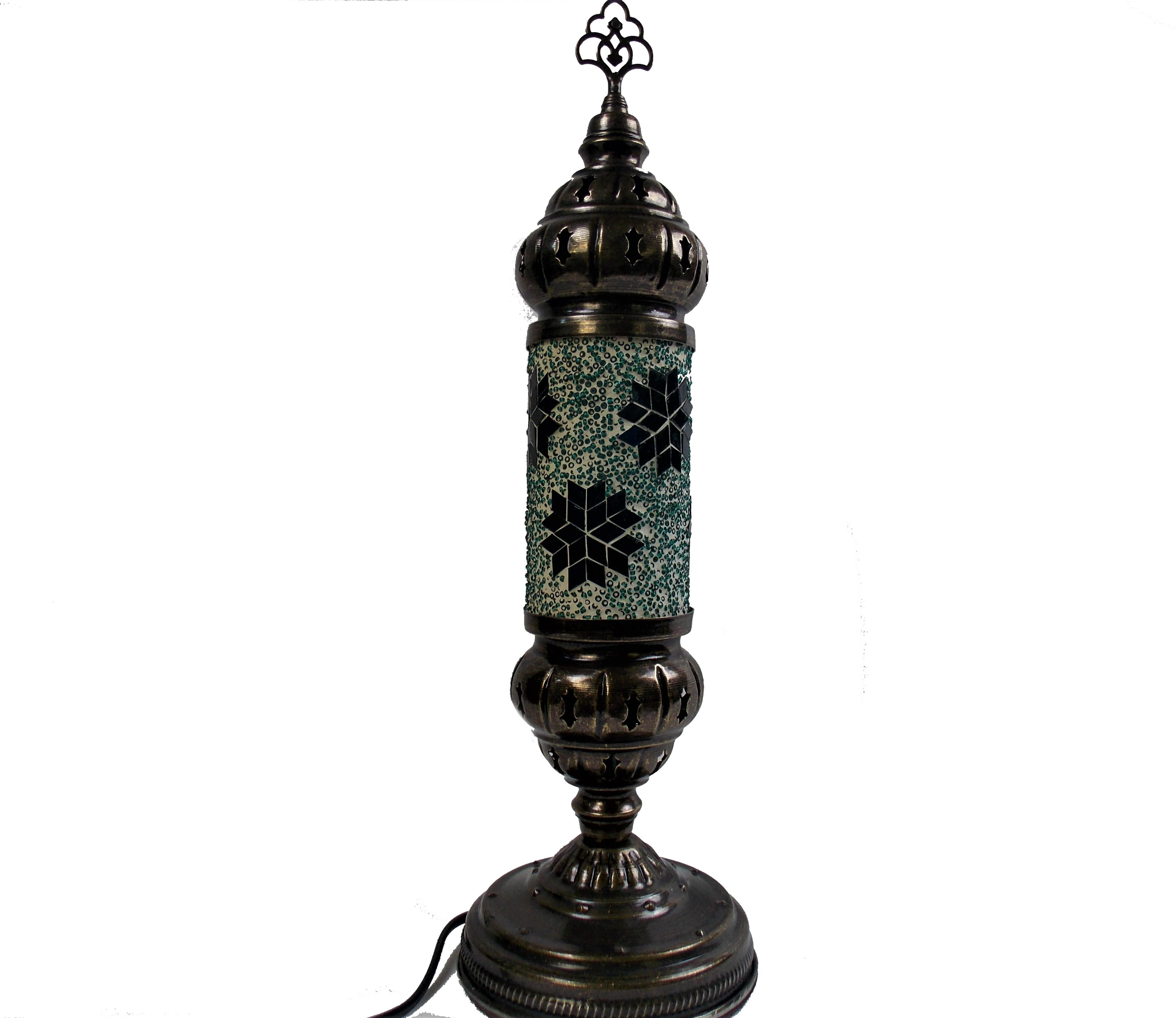 Lampa stil turcesc din mozaic handmade