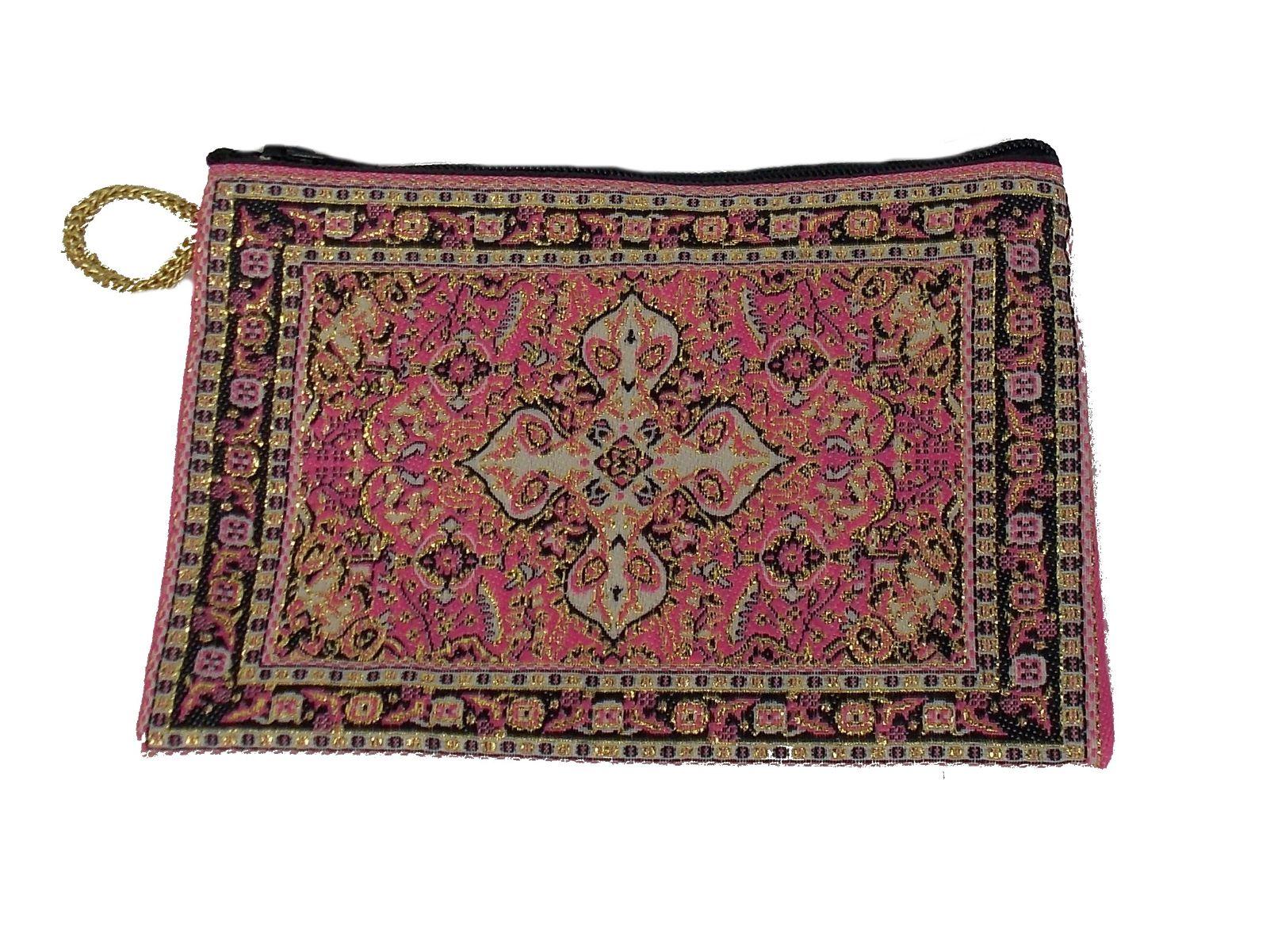 Portofel dama brodat desen oriental ,material textil